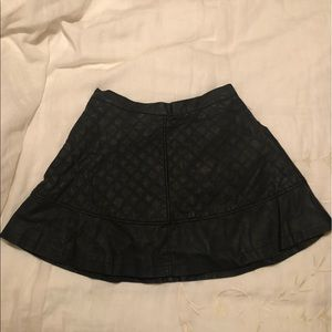 Dresses & Skirts - Black faux leather flare skirt NEVER WORN